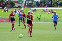 Boyds, MD - Sunday July 31, 2016: Megan Oyster during a regular season National Women's Soccer League (NWSL) match between the Washington Spirit and Sky Blue FC at Maureen Hendricks Field, Maryland SoccerPlex. The Washington Spirit defeated Sky Blue FC 3-1.