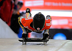 14 December 2007: Frank Rommel, racing for Germany, starts his first run at the FIBT World Cup Skeleton Competition at the Olympic Sports Complex on Mount Van Hovenberg, at Lake Placid, New York, USA. ..Mandatory Photo Credit: Ed Wolfstein Photo