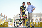 Damien Gaudin (FRA) Direct Energie at sign on before the start of Stage 9 of the 2018 Tour de France running 156.5km from Arras Citadelle to Roubaix, France. 15th July 2018. <br /> Picture: ASO/Pauline Ballet | Cyclefile<br /> All photos usage must carry mandatory copyright credit (&copy; Cyclefile | ASO/Pauline Ballet)