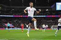 Harry Kane of England celebrates after scoring to make it 3-0 during the UEFA Euro 2020 Qualifying Group A match between England and Montenegro at Wembley Stadium on November 14th 2019 in London, England. (Photo by Matt Bradshaw/phcimages.com)<br /> Foto PHC Images / Insidefoto <br /> ITALY ONLY
