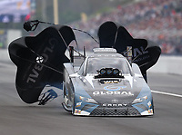 Mar 16, 2019; Gainesville, FL, USA; NHRA funny car driver Shawn Langdon during qualifying for the Gatornationals at Gainesville Raceway. Mandatory Credit: Mark J. Rebilas-USA TODAY Sports