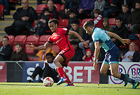 Sandro Semedo of Leyton Orient turns Nick Freeman of Wycombe Wanderers during the Sky Bet League 2 match between Leyton Orient and Wycombe Wanderers at the Matchroom Stadium, London, England on 1 April 2017. Photo by Andy Rowland.