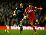 Pablo Zabaleta of Manchester City tussles with Emre Can of Liverpool - English Premier League - Liverpool vs Manchester City - Anfield Stadium - Liverpool - England - 3rd March 2016 - Picture Simon Bellis/Sportimage