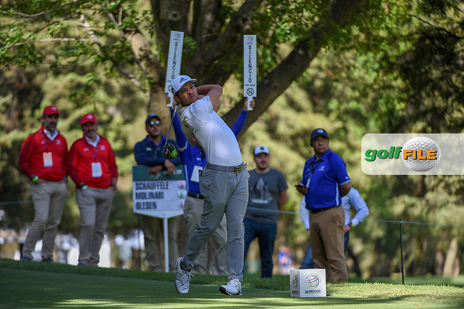 Xander Schauffele (USA) watches his tee shot on 8 during round 1 of the World Golf Championships, Mexico, Club De Golf Chapultepec, Mexico City, Mexico. 2/21/2019.<br /> Picture: Golffile | Ken Murray<br /> <br /> <br /> All photo usage must carry mandatory copyright credit (© Golffile | Ken Murray)