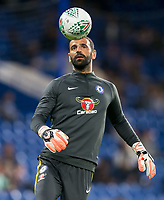 Goalkeeper Eduardo of Chelsea ahead of the Carabao Cup (Football League cup) 23rd round match between Chelsea and Nottingham Forest at Stamford Bridge, London, England on 20 September 2017. Photo by Andy Rowland.