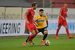 Spiel am 35 Spieltag in der Saison 2019-2020 in der 3. Bundesliga zwischen dem FC Ingolstadt 04 und dem SV Waldhof Mannheim am 24.06.2020 in Ingolstadt. <br /> <br /> Marcel Gaus (Nr.19, FC Ingolstadt 04) und Arianit Ferati (Nr.10, SV Waldhof Mannheim)<br /> <br /> Foto © PIX-Sportfotos *** Foto ist honorarpflichtig! *** Auf Anfrage in hoeherer Qualitaet/Aufloesung. Belegexemplar erbeten. Veroeffentlichung ausschliesslich fuer journalistisch-publizistische Zwecke. For editorial use only. DFL regulations prohibit any use of photographs as image sequences and/or quasi-video.
