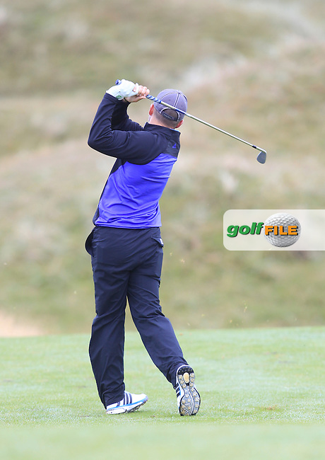 Keith Egan (Carton House) on the 3rd fairway during Matchplay Semi Final of the South of Ireland Amateur Open Championship at LaHinch Golf Club on Sunday 26th July 2015.<br /> Picture:  Golffile | TJ Caffrey