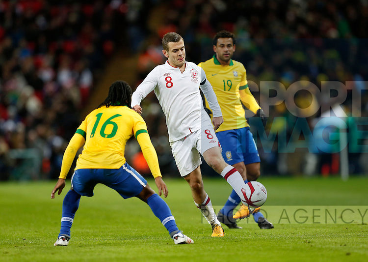 England's Jack Wilshere in action..England  v  Brazil - International Friendly - Wembley Stadium, London- 06/02/13 - Picture David Klein/Sportimage