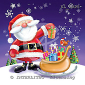 Interlitho, Simonetta, CHRISTMAS SANTA, SNOWMAN, paintings, santa, sleigh, KL5925,#x# Weihnachtsmänner, Schneemänner, Weihnachen, Papá Noel, muñecos de nieve, Navidad, illustrations, pinturas