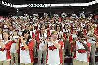 NWA Democrat-Gazette/J.T. WAMPLER Arkansas' Hog Wild Band plays during the game against Bucknell Sunday Nov. 12, 2017 at Bud Walton Arena in Fayetteville. The Hogs are home again Friday against Fresno State.