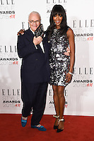 Naomi Campbell and Manolo Blahnik at the Elle Style Awards 2015 at Sky Bar, Walkie Talkie Building, London, 24/02/2015 Picture by: Steve Vas / Featureflash