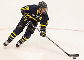 Jared Kolquist (Merrimack - 15) - The Boston University Terriers defeated the visiting Merrimack College Warriors 4-0 (EN) on Friday, January 29, 2016, at Agganis Arena in Boston, Massachusetts.