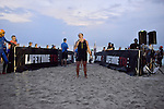 MIAMI BEACH, FLORIDA - APRIL 03: Dennis McNeil sing the National anthem at the Life Time South Beach Triathlon benefiting the St. Jude Children Hospital at Lummus Park on Sunday April 3, 2016 in Miami Beach, Florida. ( Photo by Johnny Louis / jlnphotography.com )