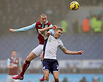 David Jones of Burnley challenges Darren Fletcher of West Bromwich Albion - Barclays Premier League - Burnley vs West Bromwich Albion - Turf Moor Stadium  - Burnley - England - 8th February 2015 - Picture Simon Bellis/Sportimage