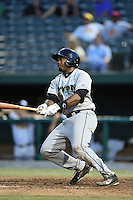 Dayton Dragons outfielder Phil Ervin (6) at bat during a game against the South Bend Silver Hawks on August 20, 2014 at Four Winds Field in South Bend, Indiana.  Dayton defeated South Bend 5-3.  (Mike Janes/Four Seam Images)