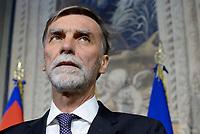 Roma, 12 Aprile 2018<br /> Partito Democratico<br />  Graziano Delrio.<br /> Secondo giro di Consultazioni per la formazione del Governo