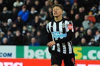 A dejected Dwight Gayle of Newcastle United during Newcastle United vs Luton Town, Emirates FA Cup Football at St. James' Park on 6th January 2018