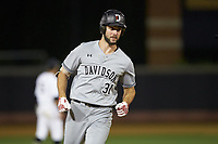 Alex Mardiney (31) of the Davidson Wildcats rounds the bases after hitting a home run against the Wake Forest Demon Deacons at David F. Couch Ballpark on May 7, 2019 in  Winston-Salem, North Carolina. The Demon Deacons defeated the Wildcats 11-8. (Brian Westerholt/Four Seam Images)