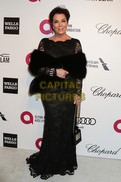 WEST HOLLYWOOD, CA - MARCH 2: Kris Jenner attending the 22nd Annual Elton John AIDS Foundation Academy Awards Viewing/After Party in West Hollywood, California on March 2nd, 2014. <br /> CAP/MPI/COR99<br /> &copy;COR99/MediaPunch/Capital Pictures