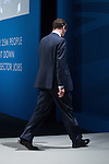 © Joel Goodman - 07973 332324 . No syndication permitted . 30/09/2013 . Manchester , UK . The British Chancellor of the Exchequer , GEORGE OSBORNE , leaves after addressing the conference this afternoon (Monday 30th September 2013) . Day 2 of the Conservative Party Conference 2013 at Manchester Central . Photo credit : Joel Goodman