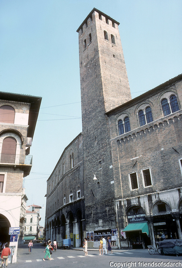 Italy: Padua--The Anziani Palace and Tower, 13th century. Photo '83.