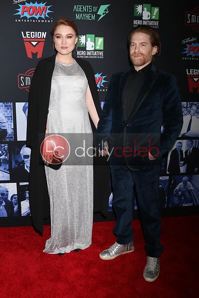 """Clare Grant, Seth Green<br /> at """"Excelsior! A Celebration of the Amazing, Fantastic, Incredible & Uncanny Life of Stan Lee,"""" TCL Chinese Theater, Hollywood, CA 01-30-19<br /> David Edwards/DailyCeleb.com 818-249-4998"""
