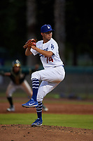 AZL Dodgers Lasorda relief pitcher Adolfo Ramirez (74) during an Arizona League game against the AZL Athletics Green at Camelback Ranch on June 19, 2019 in Glendale, Arizona. AZL Dodgers Lasorda defeated AZL Athletics Green 9-5. (Zachary Lucy/Four Seam Images)
