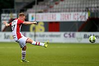 EMMEN - Voetbal, FC Emmen - Quick 20,Jens Vesting,  voorbereiding seizoen 2017-2018, 20-07-2017 FC Emmen speler Youri Loen scoort een uit een vrije schop 2-0