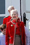 16-04-2014 Balcony 74th birthday of the Danish Queen at Marselisborg Castle in Aarhus.<br /> Queen Margrethe <br /> <br /> <br /> <br /> Credit: PPE/face to face<br /> - No Rights for Netherlands -