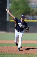 San Diego Padres pitcher Walker Weickel (32) during an Instructional League game against the Chicago White Sox on October 3, 2014 at Peoria Stadium Training Complex in Peoria, Arizona.  (Mike Janes/Four Seam Images)
