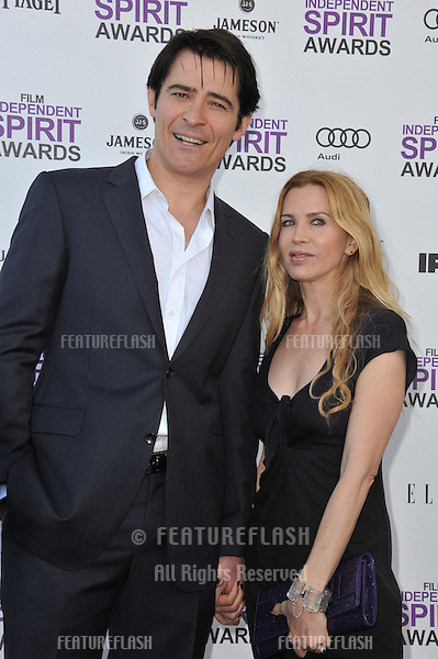 Goran Visnjic & Ivana Vrdoljak at the 2012 Film Independent Spirit Awards on the beach in Santa Monica, CA..February 25, 2012  Santa Monica, CA.Picture: Paul Smith / Featureflash