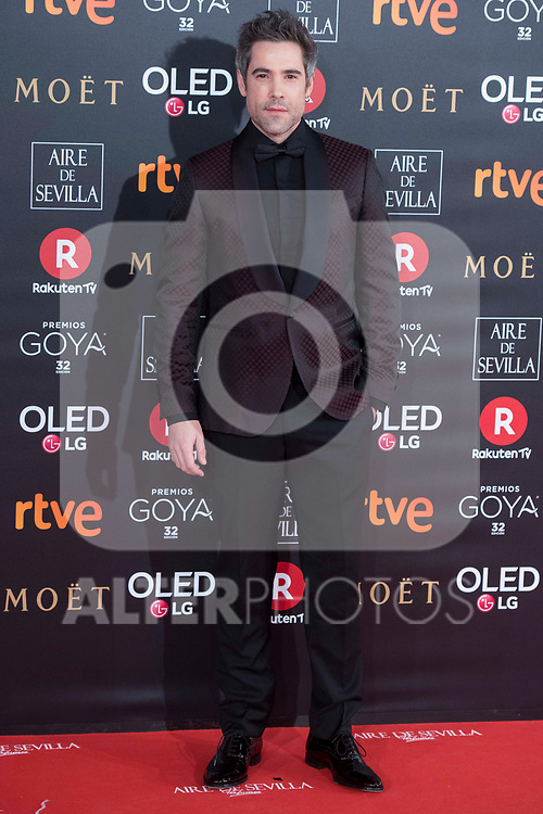 Unax Ugalde attends red carpet of Goya Cinema Awards 2018 at Madrid Marriott Auditorium in Madrid , Spain. February 03, 2018. (ALTERPHOTOS/Borja B.Hojas)