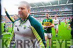 Cian O'Neill Kerry Trainer after defeating Tyrone in the All Ireland Semi Final at Croke Park on Sunday.