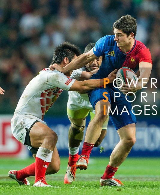 France vs Japan during the HSBC Sevens Wold Series match as part of the Cathay Pacific / HSBC Hong Kong Sevens at the Hong Kong Stadium on 27 March 2015 in Hong Kong, China. Photo by Xaume Olleros / Power Sport Images