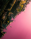 Pink lake in Spain by Henry Do