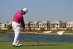 Francesco Molinari tees off on the par3 17th hole during Day 2 of the Dubai World Championship, Earth Course, Jumeirah Golf Estates, Dubai, 26th November 2010..(Picture Eoin Clarke/www.golffile.ie)