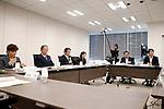 (L-R)  Mari Christine, Toshiro Muto, Ryohei Miyata, Ai Sugiyama, Keiichi Tadaki, Takeshi Natsuno,<br /> SEPTEMBER 18, 2015 :<br /> The 1st Preparatory Committee towards the Tokyo 2020 Olympic and Paralympic Games emblem selection is held in Tokyo, Japan. (Photo by Shugo TAKEMI/Tokyo2020/AFLO)