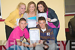 ..DELIGHTED: Delighted students from St Josephs Secondry School, Ballybunion on Wednesday were delighted with their results of the Leaving Certs. Front l-r: Kennneth Mannix and Paraic Walsh (Ballybunion). Back l-r: JO Jo O'Sullivan, Aili?n Crowe and Aisling O'Sullivan.....