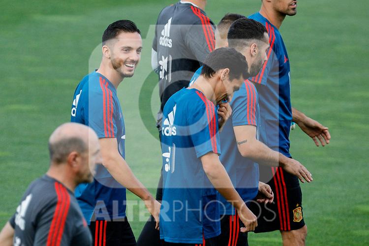 Pablo Sarabia during the Trainee Session at Ciudad del Futbol in Las Rozas, Spain. September 02, 2019. (ALTERPHOTOS/A. Perez Meca)