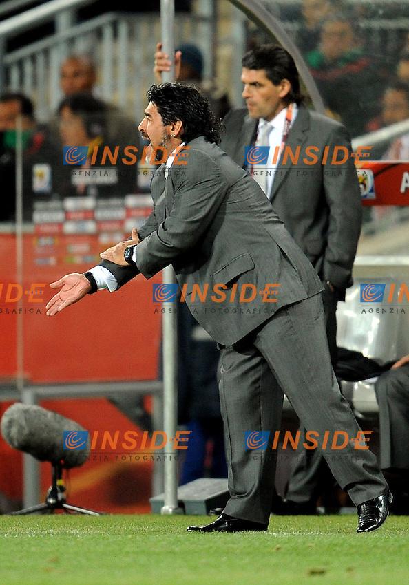 L'allenatore Diego Armando Maradona (Argentina)<br /> Argentina Messico - Argentina vs Mexico<br /> Campionati del Mondo di Calcio Sudafrica 2010 - World Cup South Africa 2010<br /> Soccer City Stadium, Johannesburg, 27 / 06 / 2010<br /> &copy; Giorgio Perottino / Insidefoto