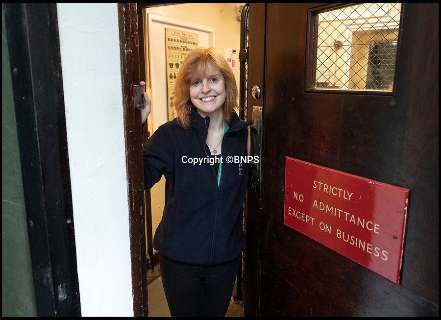 BNPS.co.uk (01202 558833)<br /> Pic: PhilYeomans/BNPS.<br /> <br /> Curator of 'The Bunker' Dr Rachael Abbiss.<br /> <br /> The 11 Group control room from where the Few took on the might of Goerings Luftwaffe in 1940.<br /> <br /> The historic room from which the Battle of Britain was won has opened to the public after Hillingdon council acquired the site from the RAF.<br /> <br /> The defence of the capital and much of southern England was conducted from 11 Group control room at RAF Uxbridge during the dark days of 1940 and later the air support for the D-Day landings in June 1944.<br /> <br /> And Churchill even came up with his 'Never in the field of human conflict was so much been owed by so many to so few' on climbing the stairs out of the concrete bunker after witnessing a ferocious days fighting at the height of the Battle in August 1940.<br /> <br /> The new visitor centre is now fully open to the public after a multi million pound redevelopment that recreates exactly the control room at 11.30am on the 15th September 1940...Battle of Britain day.