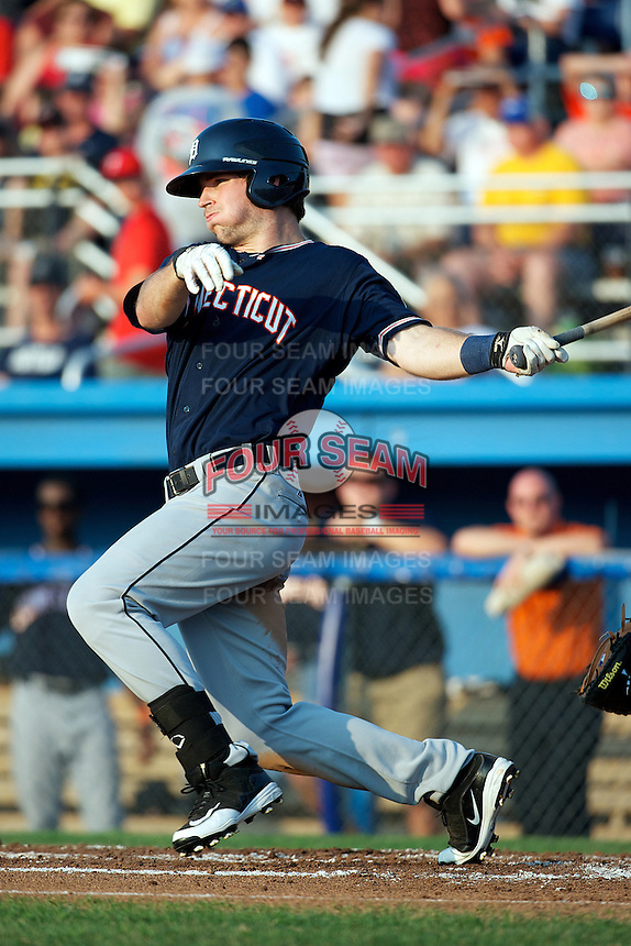 Connecticut Tigers outfielder Jake Stewart #56 during a game against the Batavia Muckdogs at Dwyer Stadium on July 4, 2012 in Batavia, New York.  Batavia defeated Connecticut 3-2.  (Mike Janes/Four Seam Images)