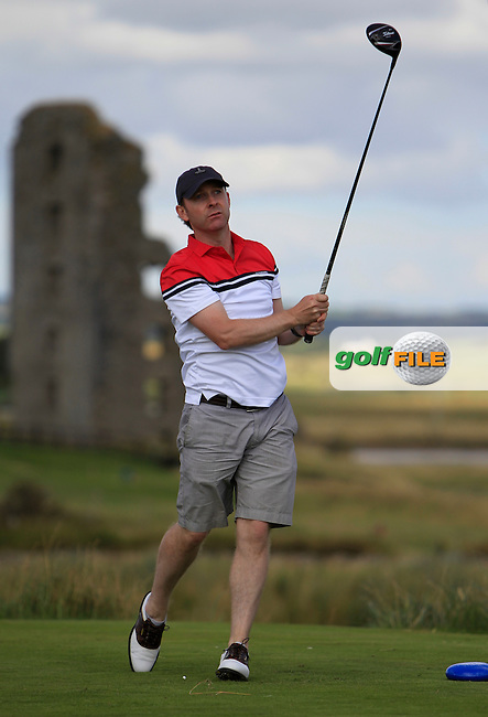 Colin Cunningham (Carton House) on the 13th tee during the South of Ireland Amateur Open Championship 4th Round at Lahinch Golf Club  29th July 2013 <br />