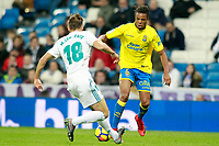 Real Madrid's Marcos Llorente (l) and UD Las Palmas' Loic Remy during La Liga match. November 5,2017. (ALTERPHOTOS/Acero)