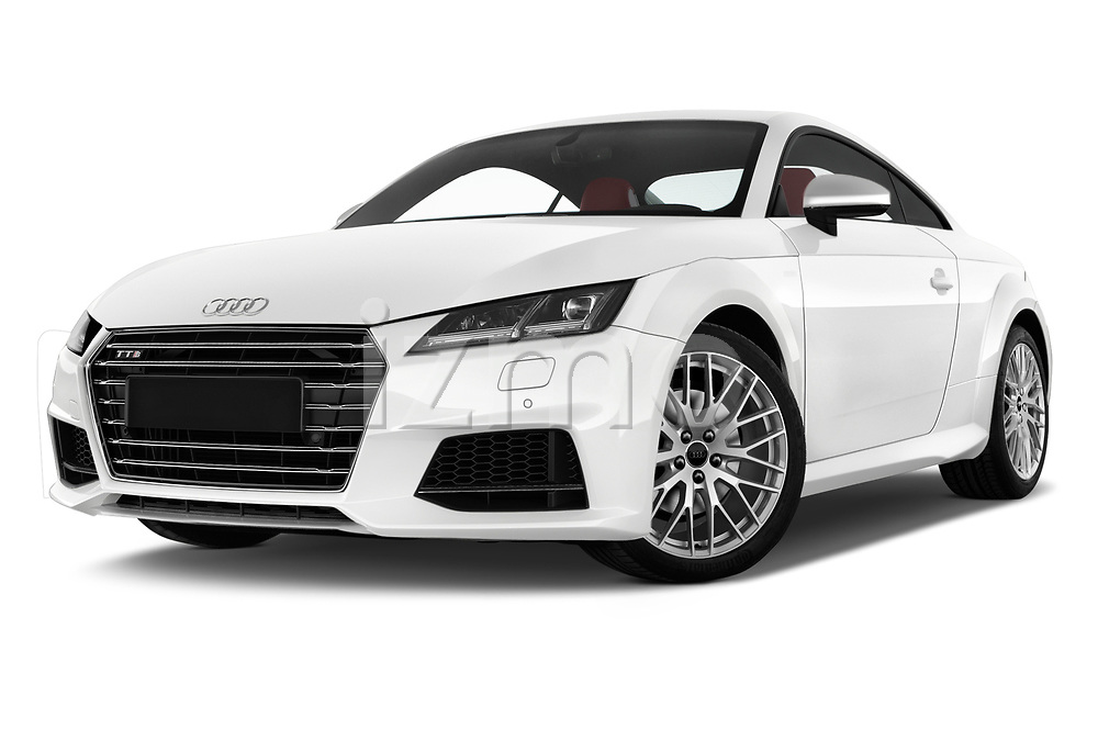 Stock pictures of low aggressive front three quarter view of 2016 Audi TTS - 2 Door coupe Low Aggressive