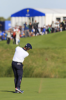 Bryson Dechambeau (Team USA) plays his 2nd shot on the 10th hole during Saturday's Foursomes Matches at the 2018 Ryder Cup 2018, Le Golf National, Ile-de-France, France. 29/09/2018.<br /> Picture Eoin Clarke / Golffile.ie<br /> <br /> All photo usage must carry mandatory copyright credit (&copy; Golffile | Eoin Clarke)