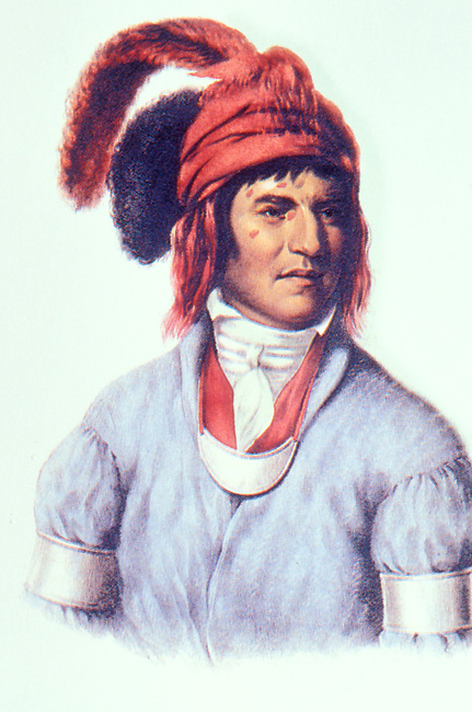 1830's Painting of Creek Chief Ledagie by Charles King Bird