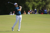 Justin Rose (ENG) on the 1st fairway during the 3rd round of the DP World Tour Championship, Jumeirah Golf Estates, Dubai, United Arab Emirates. 23/11/2019<br /> Picture: Golffile | Fran Caffrey<br /> <br /> <br /> All photo usage must carry mandatory copyright credit (© Golffile | Fran Caffrey)