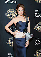 Actress Anna Kendrick poses at the 33rd annual ASC Awards and The American Society of Cinematographers 100th Anniversary Celebration at the Ray Dolby Ballroom at Hollywood &amp; Highland, Saturday, February 9, 2019 in Hollywood, California.  <br /> CAP/MPI/IS<br /> &copy;IS/MPI/Capital Pictures