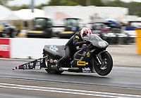 Sep 1, 2017; Clermont, IN, USA; NHRA pro stock motorcycle rider Joey Gladstone during qualifying for the US Nationals at Lucas Oil Raceway. Mandatory Credit: Mark J. Rebilas-USA TODAY Sports
